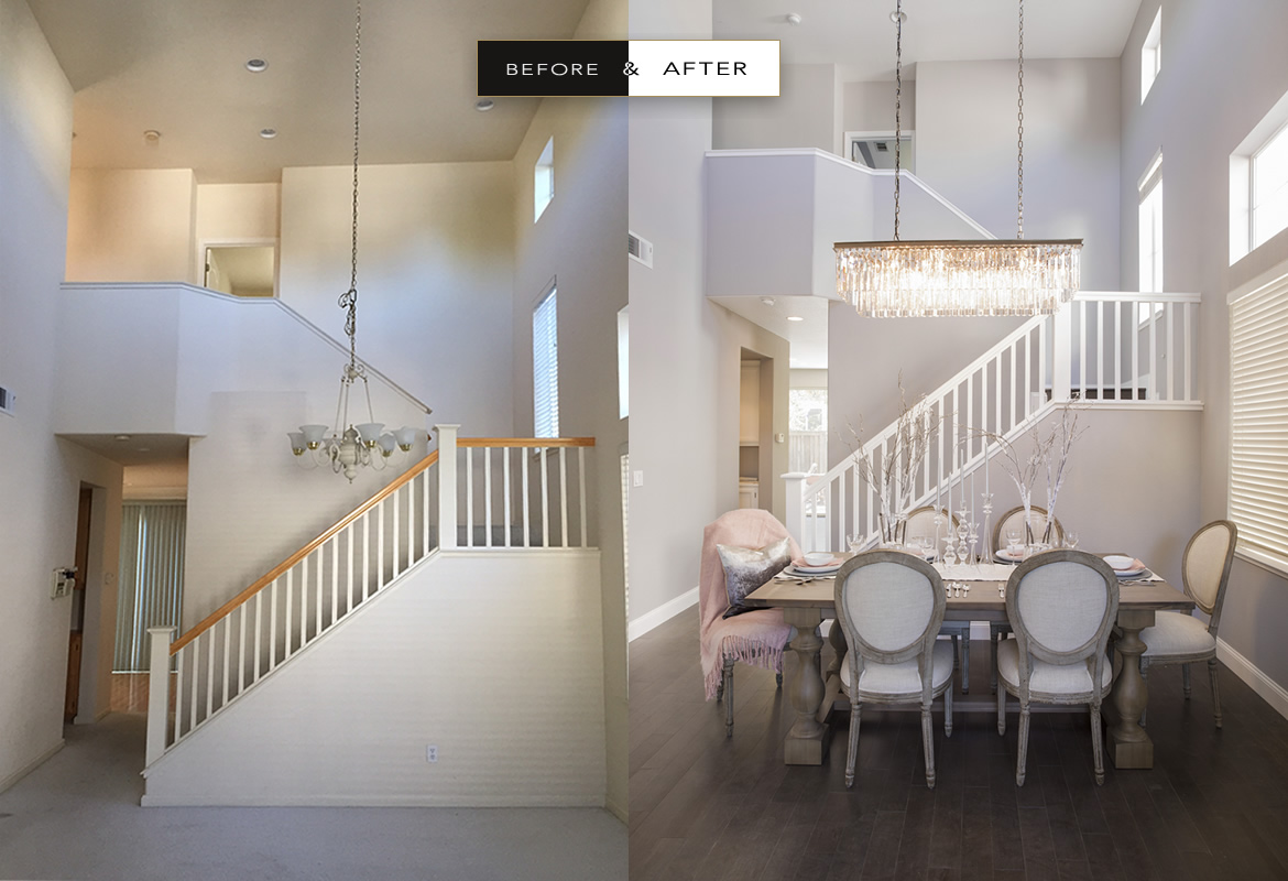 before & after | atelier noël | interior design